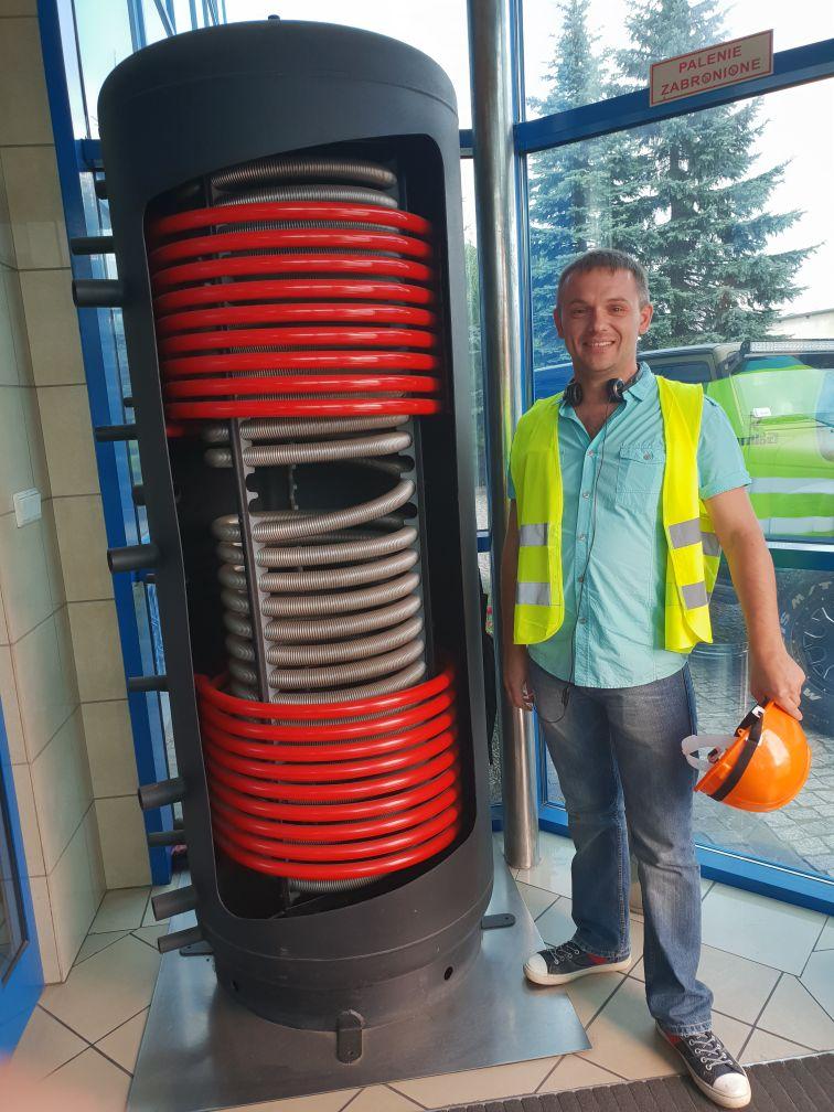 Выставочная модель водонагревателя Galmet на заводе Galmet в Польше