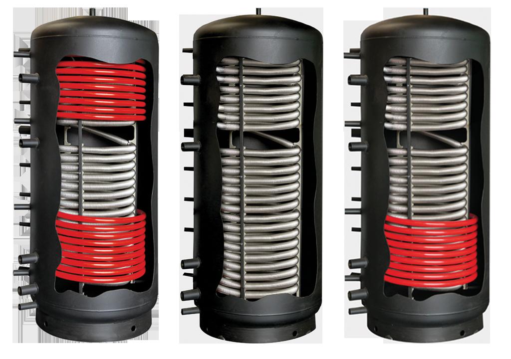 Баки-аккумуляторы Multi-inox (без теплообменника, с 1 и 2 теплообменниками)